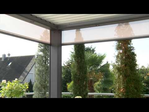 Pergola von Biossun überdacht private Terrasse