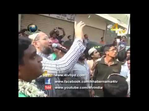 Asaduddin owaisi GHMC rally  Chali Chali Re Patang Meree Chali Re 24*01*16