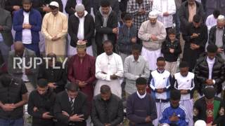 Tens of thousands of Muslims gathered at Small Heath Park in Birmin...
