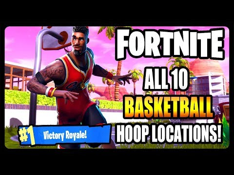 ALL FORTNITE BASKETBALL HOOP LOCATIONS!