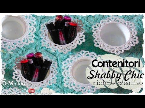 Tutorial: Contenitori Decorativi Shabby Chic   Riciclo Creativo   DIY Decoration