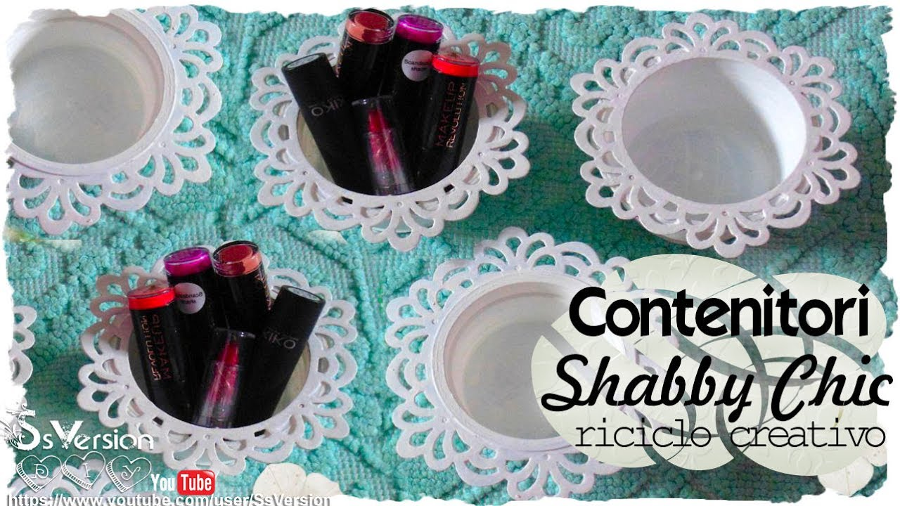 Tutorial Pittura Shabby Chic : Tutorial: contenitori decorativi shabby chic riciclo creativo