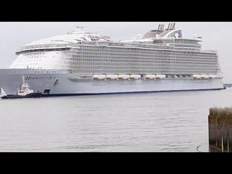 Во Франции спустили на воду самое большое в мире пассажирское судно