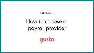 How to Choose the Right Payroll Provider for Your Business