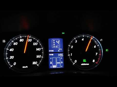 Разгон 0-180 Toyota Mark X 250G 215 сил сток