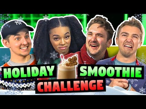 SMOOTHIE CHALLENGE (Christmas Food!)