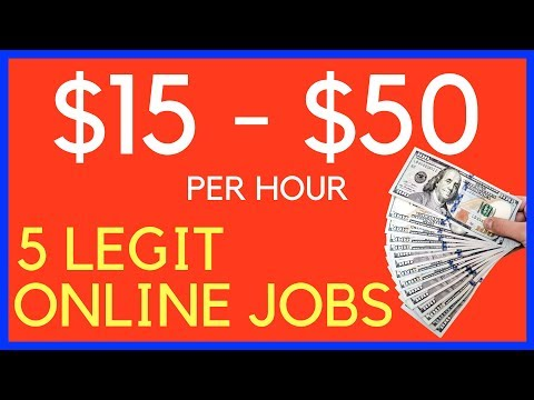 5 Well Paying Online Jobs | Legit Online Jobs **WORLDWIDE**