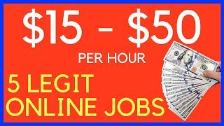 In today's video i want to show you how can find legit online jobs and start making between $15 $50 per hour straight away. these are some of the bes...