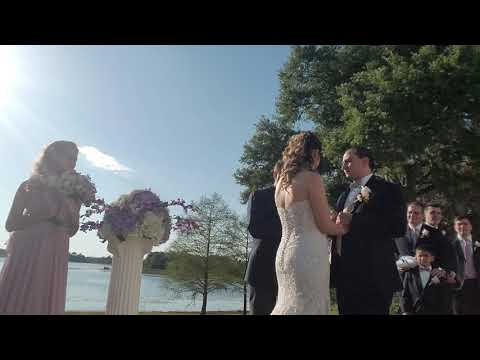 Couple Exchanges Vows at Beautiful Lake Mary Event Center Wedding