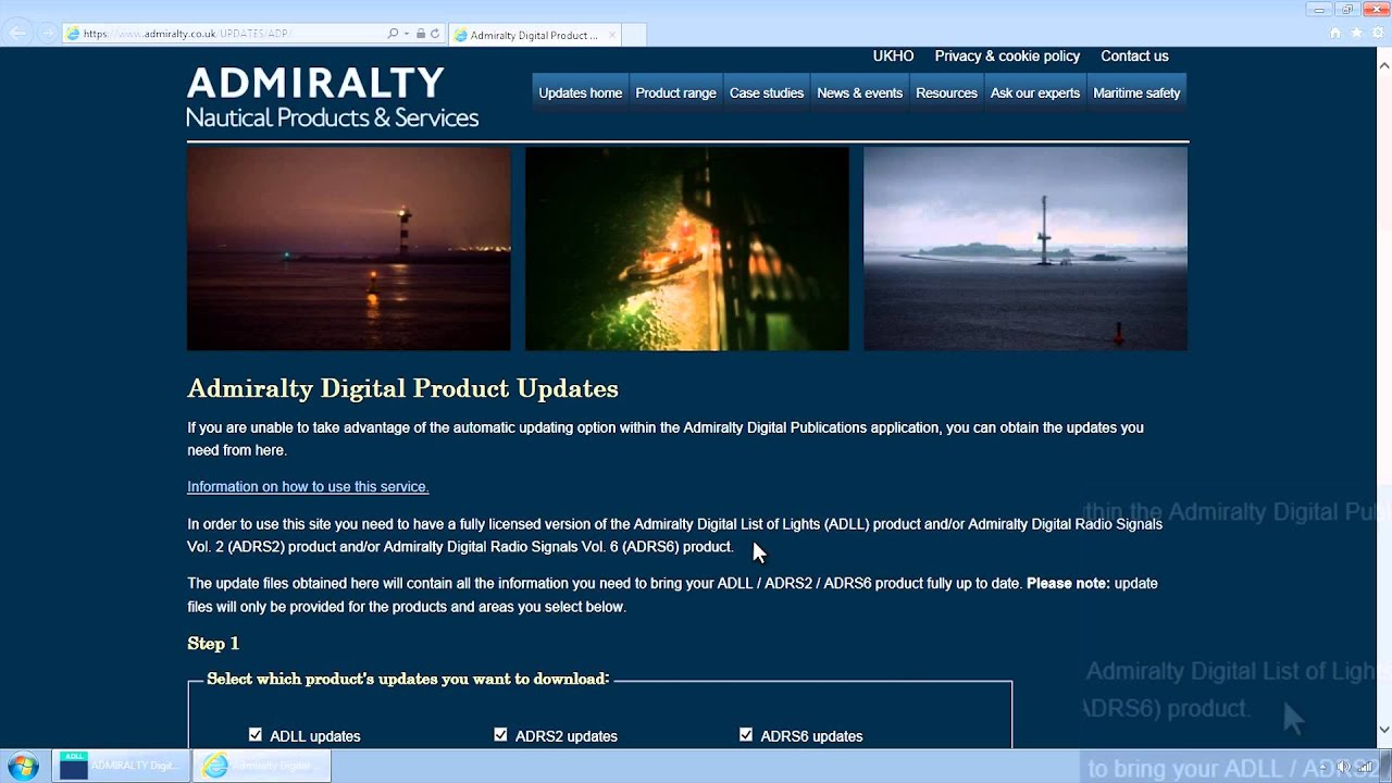 Manually Downloading ADMIRALTY Digital Publications ADP Updates from the  ADMIRALTY website