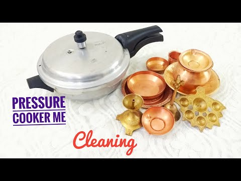 Clean Brass & Copper Puja Utensils in Pressure Cooker | Best Trick to Quick Clean Copper and Bronze