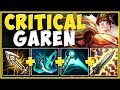 ACTUALLY BREAKING THE GAME! NEW 100% CRIT GAREN IS 200% BUSTED! GAREN TOP GAMEPLAY League of Legends