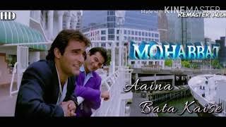 Download Lagu Aaina bata kaise unka dil churana hai (Mohabbat)//Full Audio Song//Sonu Nigam and Vinod Rathod. mp3