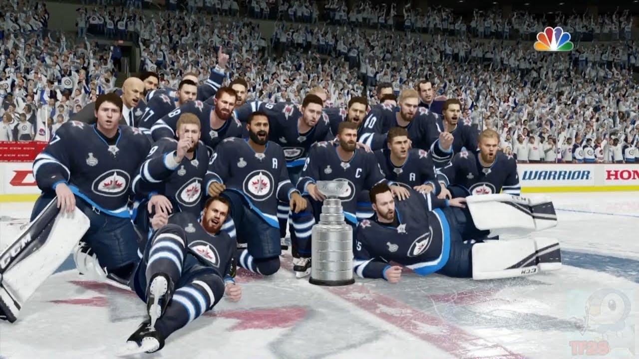 Nhl 18 Winnipeg Jets Stanley Cup Celebration Youtube