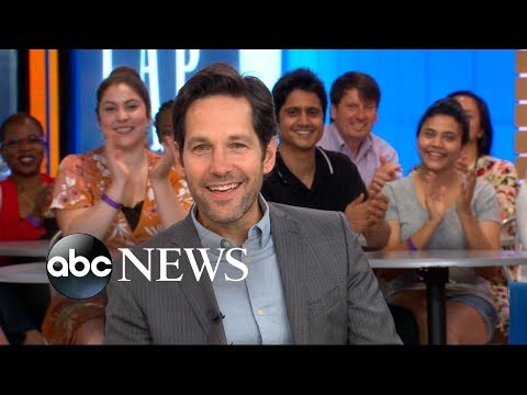 Paul Rudd dishes on 'AntMan and the Wasp' live on 'GMA'
