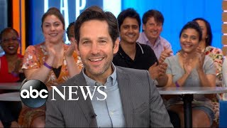 Paul Rudd dishes on 'Ant-Man and the Wasp' live on 'GMA'