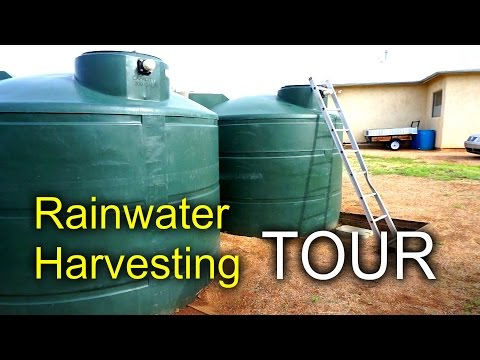 Rainwater harvesting home system tour youtube for Rainwater harvesting at home