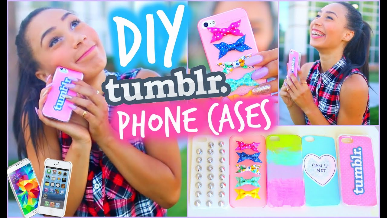 DIY 5 Easy Phone Cases (Studded, Ombre u0026 More) : Tumblr Inspired ...