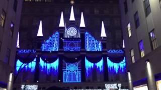 Stunning Holiday Light Show Saks Fifth Avenue Rockefeller Center New York Christmas 2015
