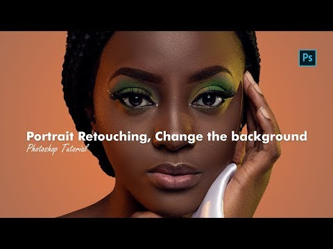 69.  Photoshop Tutorial -  Portrait Retouching, Change the background, Save for Instagram thumbnail
