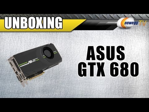 NVIDIA ASUS Geforce GTX 680 2 GB D5 DCUII GPU 2GD5 4K 256Bit Video Card