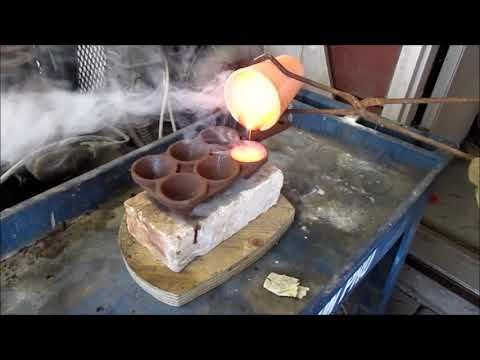 melting mistery ore that came from 8 ounces of gold after acid refining