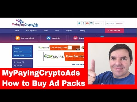 MyPayingCryptoAds How to Buy Ad Packs in MPCA part 2