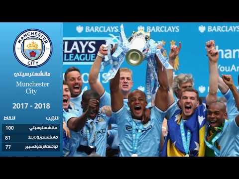 جميع الأندية التي توجت بلقب الدوري الإنجليزي الممتاز من سنة 2000 إلى 2018