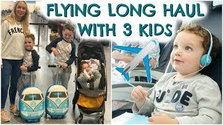 9 HOURS ON A PLANE WITH 3 KIDS!  FLYING LONG HAUL WITH KIDS Video