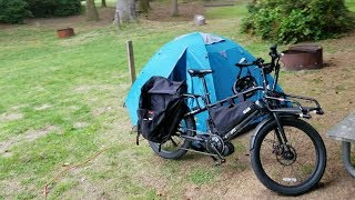 Electric Cargo Bike camping- Pushing the range of an ebike 285 miles in 3 days