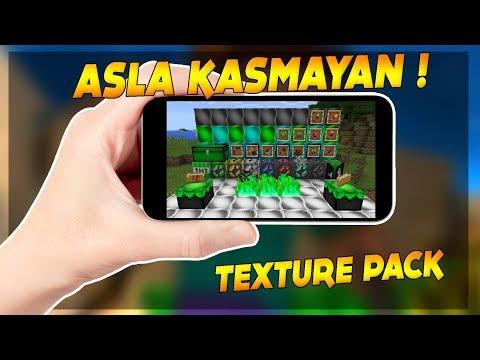 HİÇ BİR TELEFONDA KASMAYAN TEXTURE PACK ! - Minecraft Pocket Edition 1.1