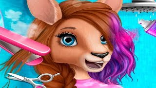 Прически и маникюр для кенгуру в салоне красоты для ЖИВОТНЫХ | Мультик  игра для детей