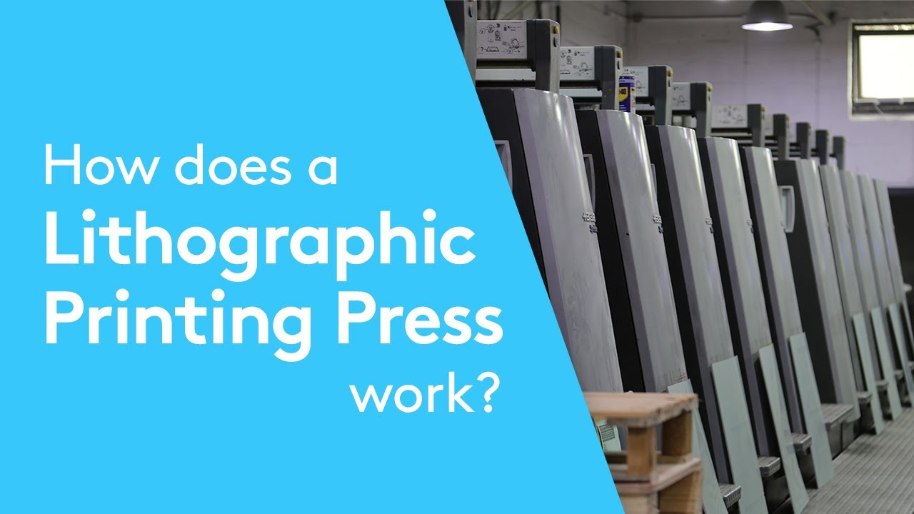 Offset printing | How an offset printing press works