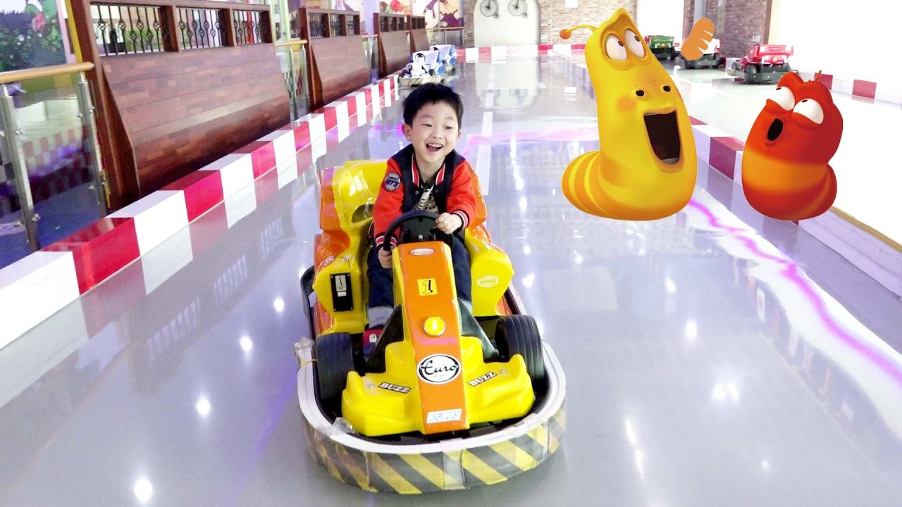 [With Kids]Indoor Playground Theme Park Family Fun Ride Train Power Wheels Kids Car Slide Airbounce