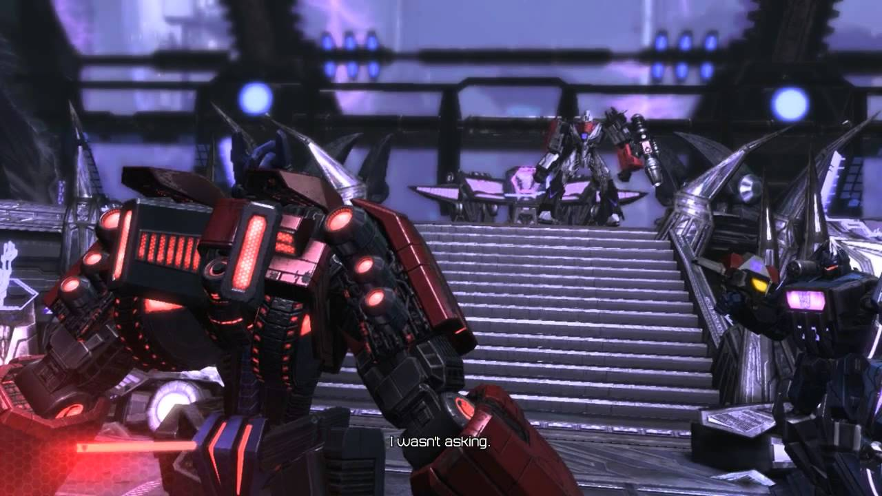 transformers fall of cybertron pc megatron s death youtube