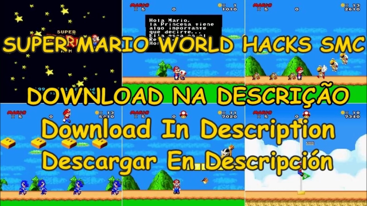 SUPER MARIO WORLD - HACKS SMC DOWNLOAD - LINK NA DESCRIÇAO