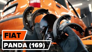How to replace Brake pad set on FIAT PANDA (169) - video tutorial