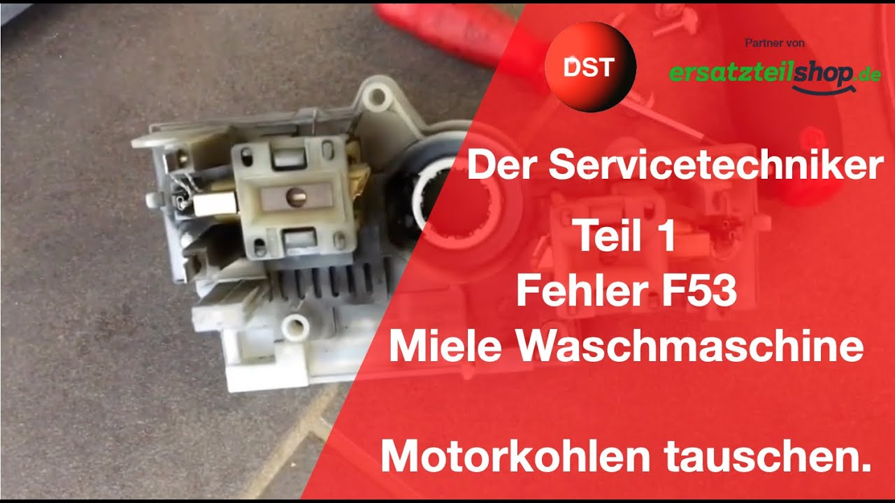 Miele Waschmaschine demontieren Technischer Fehler F53 Motorkohlen ...