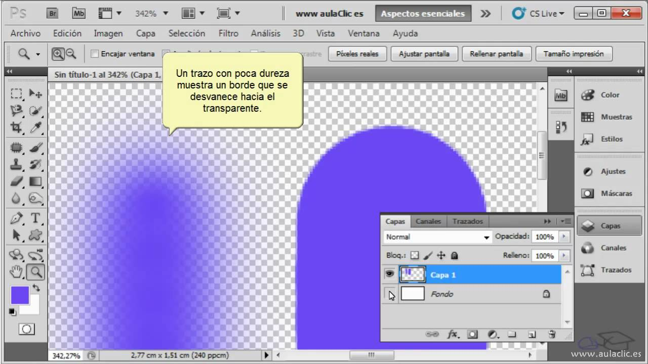Curso De Photoshop Cs5 3 1 Dibujar Con Pincel Y Lápiz Youtube
