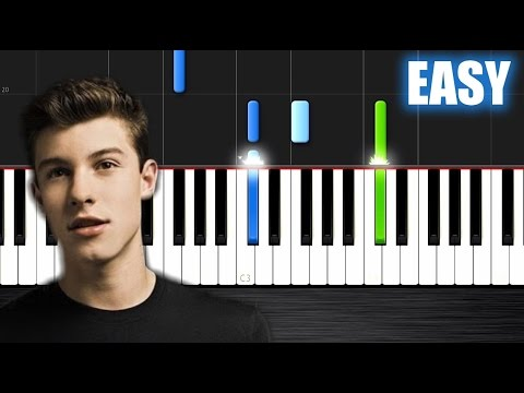 Shawn Mendes - Stitches - EASY Piano Tutorial By PlutaX - Synthesia