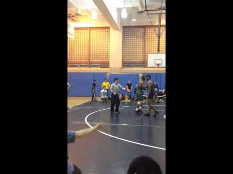 Vince Seeraj Long Island City High School vs. Aviation High School wrestling