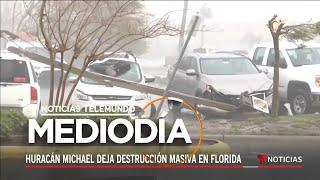 Varios autos, negocios y casas destruidos tras el paso del huracán Michael | Noticiero | Telemundo