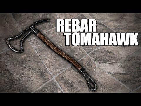 Forging a Tomahawk from Rebar