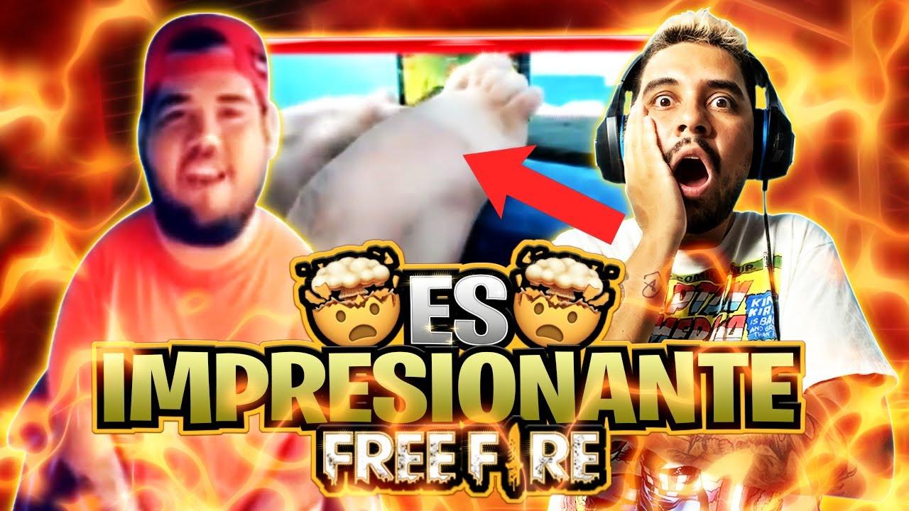 REACCIONO A CHICO QUE JUEGA CON LOS PIES FREE FIRE