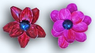 DIY Plastic Spoon Flower, How to make Spoon Lotus Flower for room decor