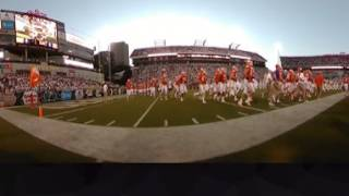 TigerNet.com - Clemson enters Bobby Dodd Stadium - 360 Degrees