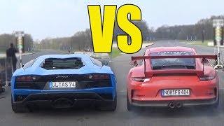 LAMBORGHINI AVENTADOR vs PORSCHE 911 GT3 RS  🔥DRAG RACE🔥