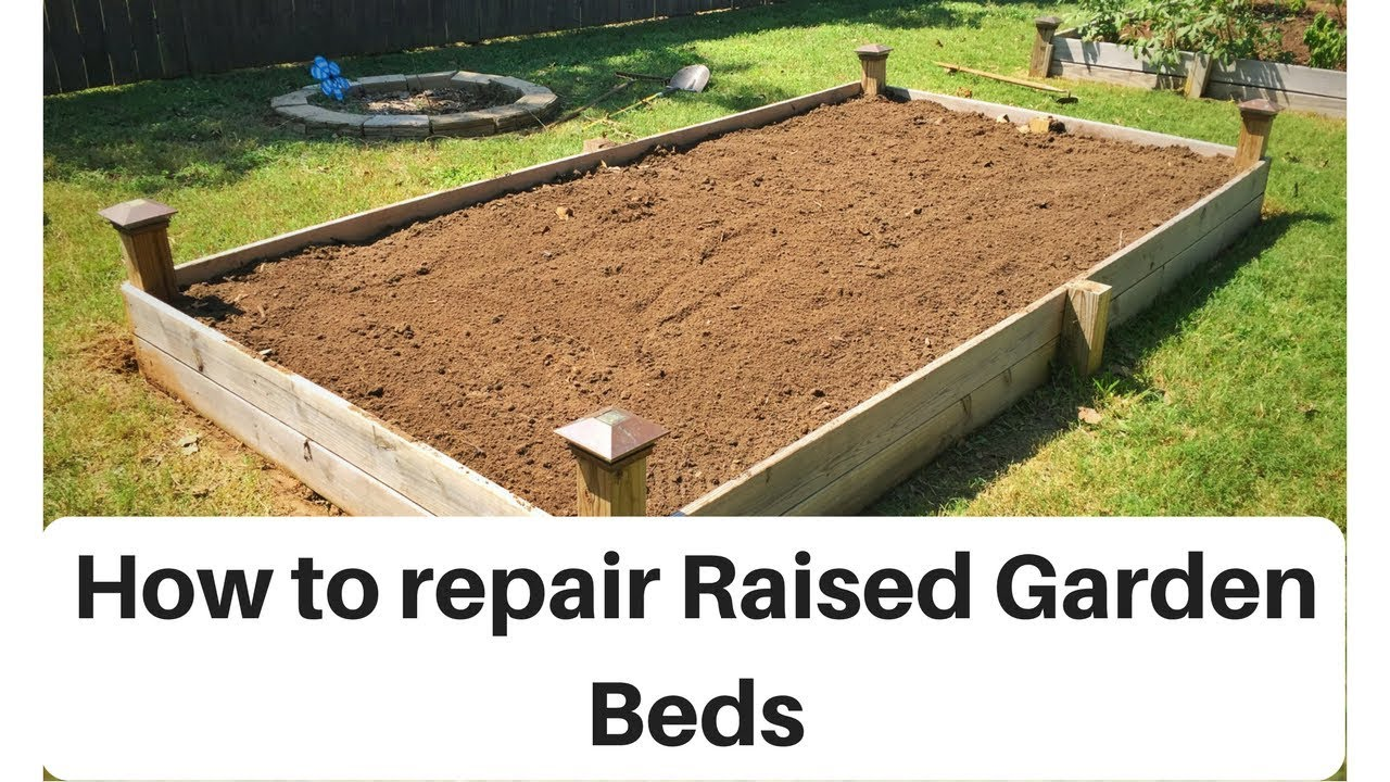 How to fix Raised Garden Beds - YouTube