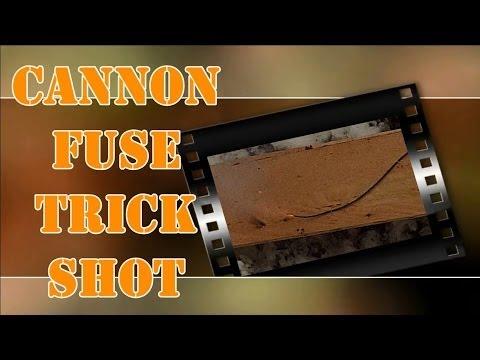 Cannon Fuse TNT Trick Shot: w/  22 lr & 9mm