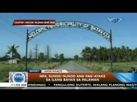 NPA, sunod-sunod na umatake sa ilang bayan sa Palawan